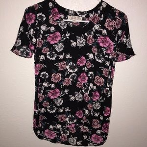 Floral Pink Rose Top size XS